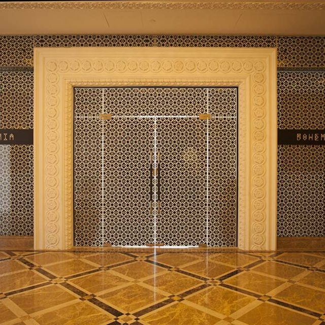 Alutec Products - Image of Frame less Door at Marza Malaz Kempinski, Qatar